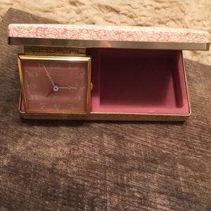 Vintage Jewelry Box Alarm Clock